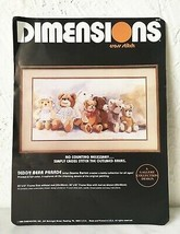 Dimensions Teddy Bear Parade Cross Stitch Kit - No Counting Needed - Kit Opened - $12.30