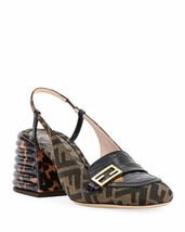 Fendi FF Slingback Loafer Pumps Shoes Size 37 MSRP: $890.00 - $544.50