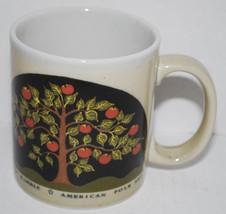 American Folk Art Warren Kimble Coffee Mug Tea Cup Otagiri Japan Apple T... - $21.00