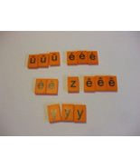 15 Orange Plastic Letters French Spellmaster Pieces For Crafts - $4.95