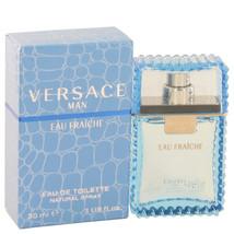 Versace Man by Versace Eau Fraiche Eau De Toilette Spray (Blue) 1 oz for... - $38.67