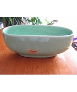 Vintage Green Turq Haeger Pottery Oval Bowl Planter 3829 USA - $15.95