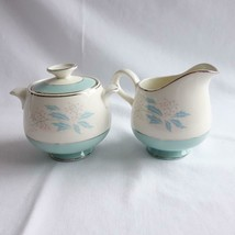 Mid Century Homer Laughlin Romance Sugar Bowl and Creamer Set - $33.85