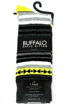 Buffalo David Bitton Gray Black Nuclear Yellow Socks - $18 Retail - Bran... - $13.49