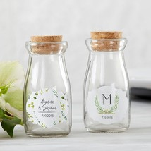 Vintage Milk Bottle Favor Jar - Botanical Garden (2 Sets of 12) (Personalization - $49.99