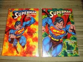 Superman Doomsday Hunter Prey DC Comic Book Set Book 1 and 2 Near Mint C... - $4.54