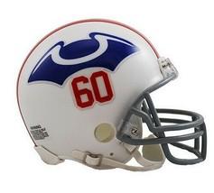 New England Patriots 1960 Riddell Mini Replica Throwback Helmet Retro - $29.65