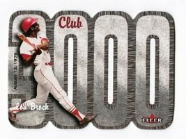 2000 Fleer Club 3000 Lou Brock Baseball Card Baseball Insert Card Cardinals HOF - $3.00