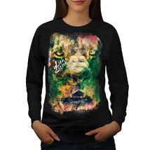 Lion Zion Cat Face Jumper Iron Rasta Women Sweatshirt - $18.99