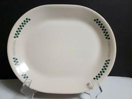 """Corning Corelle FARM FRESH 12 1/4"""" Oval Serving Platter Green Checks on ... - $12.86"""