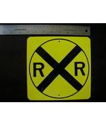 """MINI MINIATURE R.R. CROSSING TRAFFIC SIGNS 8"""" METAL - $5.00"""