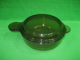 Vintage Vision Corning Ware V-240-B Grab It and Glass Lid Amber - $12.16