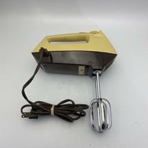 Sunbeam Mixmaster HEAVY DUTY Hand Mixer 5 Speed BURST of POWER Vintage - $24.74