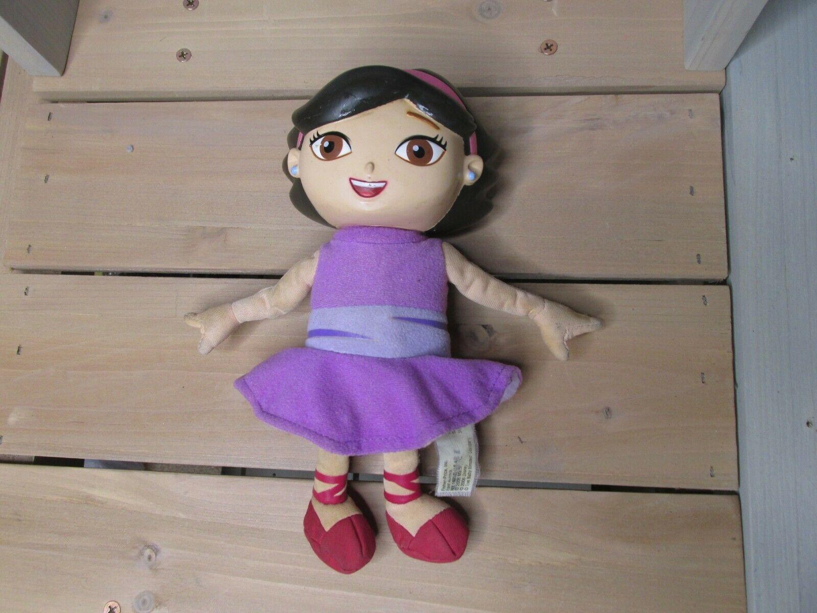 """Disney Little Einsteins June 8"""" Talking Singing Plush Doll Vinyl Head WORKS"""