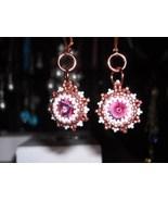 Handmade Swarovski Crystal Beaded Earrings - $30.00