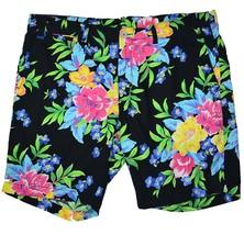 NEW Polo Ralph Lauren Mens 34 Straight Fit Linen Blend Shorts Black Floral 34W - $64.29
