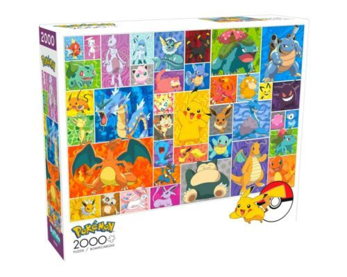 2000 Piece Jigsaw Puzzle Buffalo Games 38 in x 26 in, Pokemon Collage - NEW - $29.40
