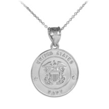 Sterling Silver US Navy Coin Pendant Necklace - €18,02 EUR+