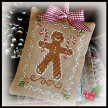 Gingerbread Cookie Ornament 2012 Series #10 chart Little House Needleworks - $5.40