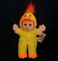 Russ Berrie Troll Niños Kidz Amarillo Pollo Chickee Peluche Juguete con Etiqueta - $21.87