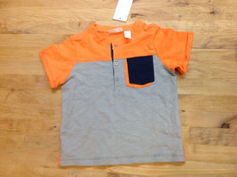 First Impressions Baby Boys Henley Shirt, Orange/Gray, Size 24M - $11.87