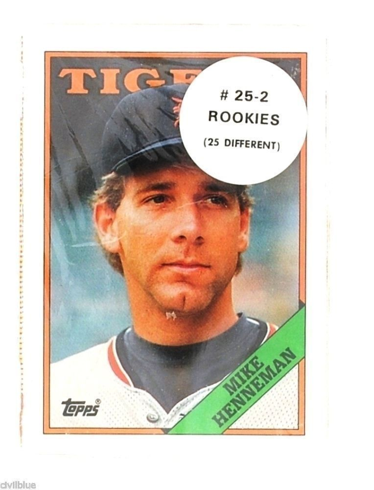 One Set of 25 Topps Rookie Baseball Cards All Different Shrink Unopened 1987-90s