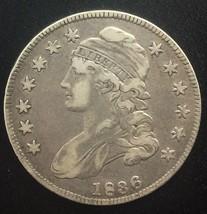1836 Lettered Edge    Bust Half Dollar 50 Cents - $132.76