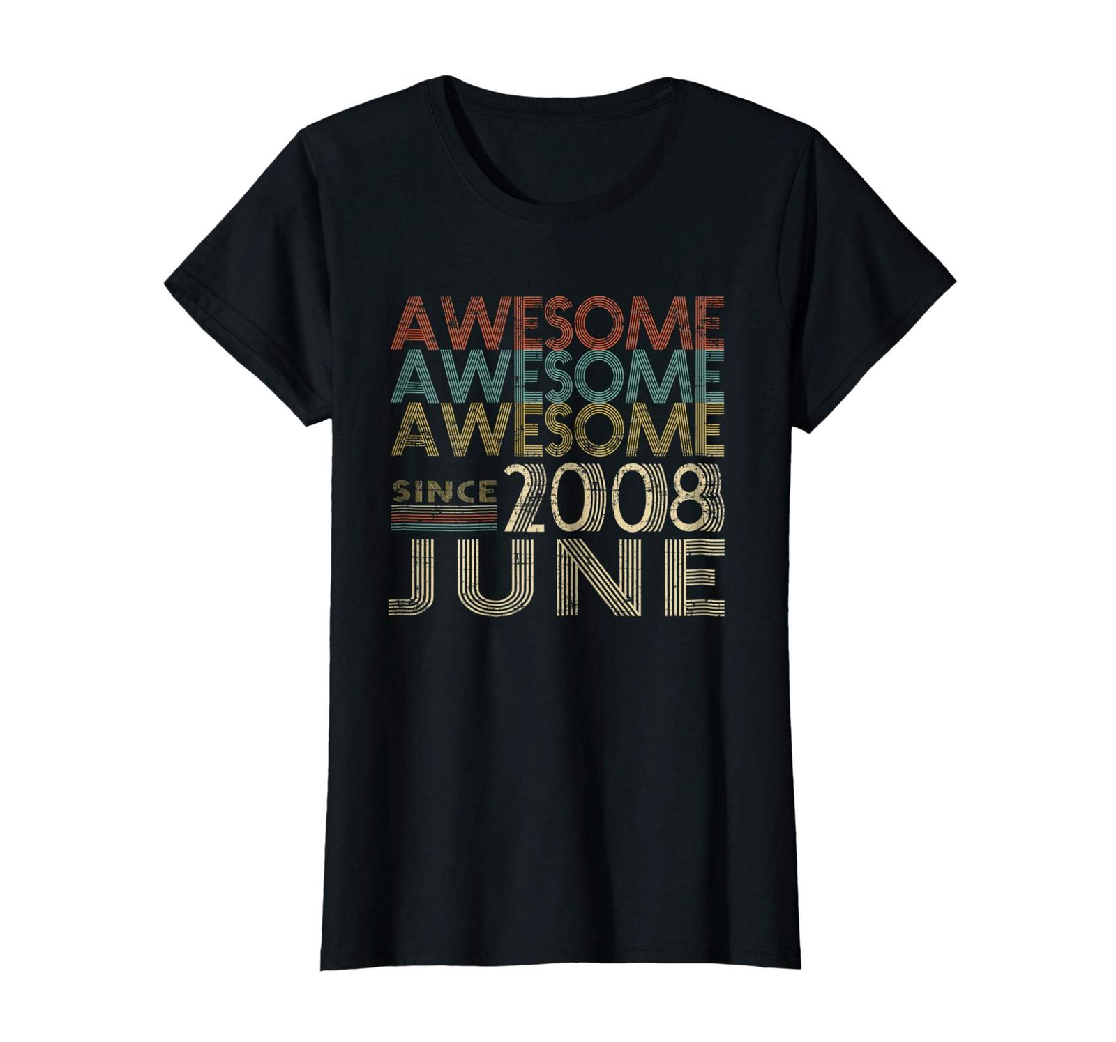 Dad Shirts - Legends Born In Awesome Since JUNE 2008 10 Years Old Being Wowen
