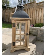 Hampton Decorative Metal & Wood Lantern - $59.99