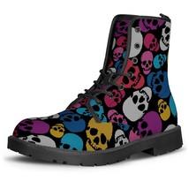 Fashion Casual Demonia Women's Boots Printing Rose Skeleton Female Ankle... - $127.42