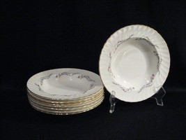 REGAL BY ADDERLY ENGLAND RIMMED SOUP BOWLS - EIGHT - $38.65