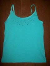 Extremely Me Girls Cami Sz 14 16 Blue Bling Jewels Layering Top Summer S... - $12.86