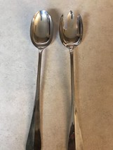"""Vintage W.A. Silver Plated Salad Fork & Spoon Serving Set Shell Pattern 12 1/2"""" - $18.31"""
