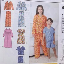 Simplicity Sewing Pattern 1575 Girls Boys Child Lounge-Wear Size 7-14 New - $16.60