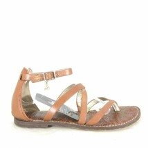 7.5 - Sam Edelman Brown Leather Strappy Gilroy Sandals Flats Shoes 0730SN - $22.00