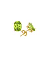 Women's 2 Ct Green Twt Peridot Earrings in 14k Gold - $229.50
