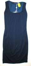 New Womens 6 NWT Designer Mary Jane Italy 40 Dress Dark Blue Sleeveless ... - $117.00