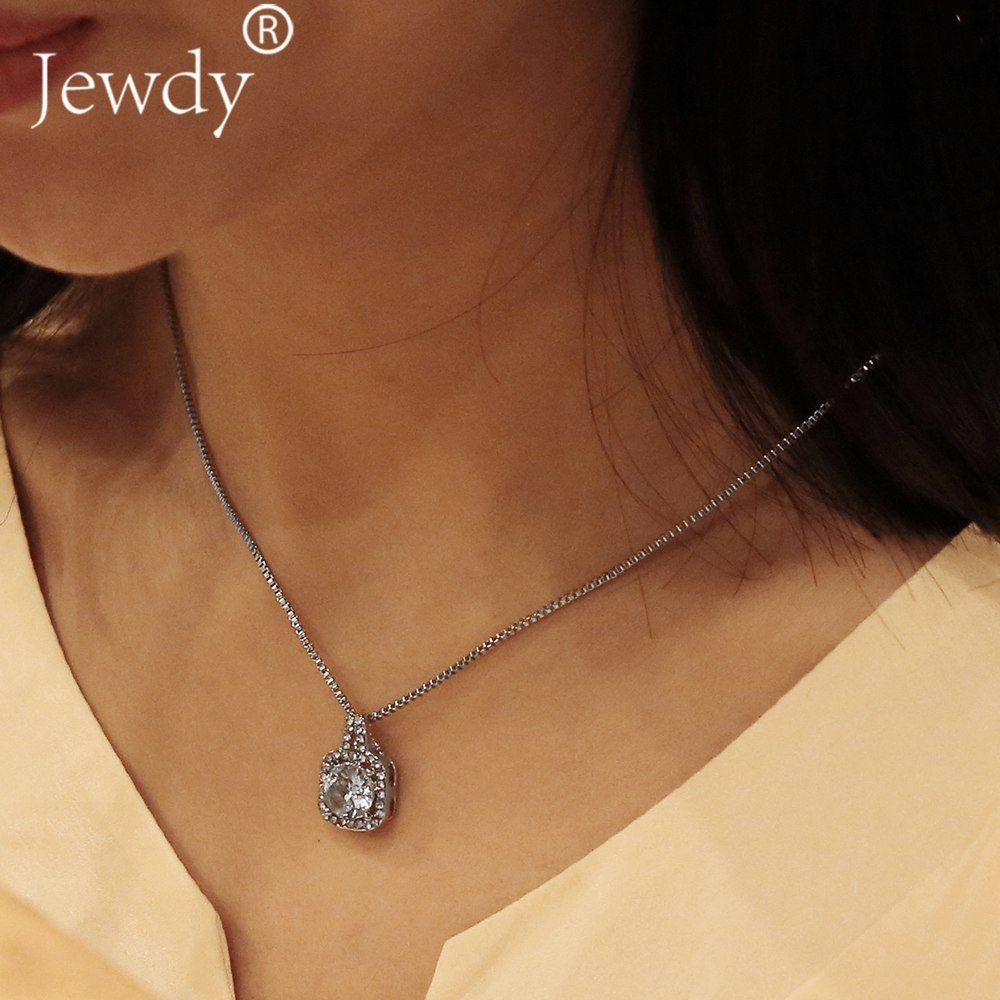 Jewdy® Boho Blue Crystal Long Pendant Necklaces For Women Collar Vintage