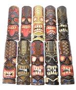 "Surprise Set 20"" Large Set of 5 Polynesian Hawaiian Tiki Style Wall Masks - $59.39"