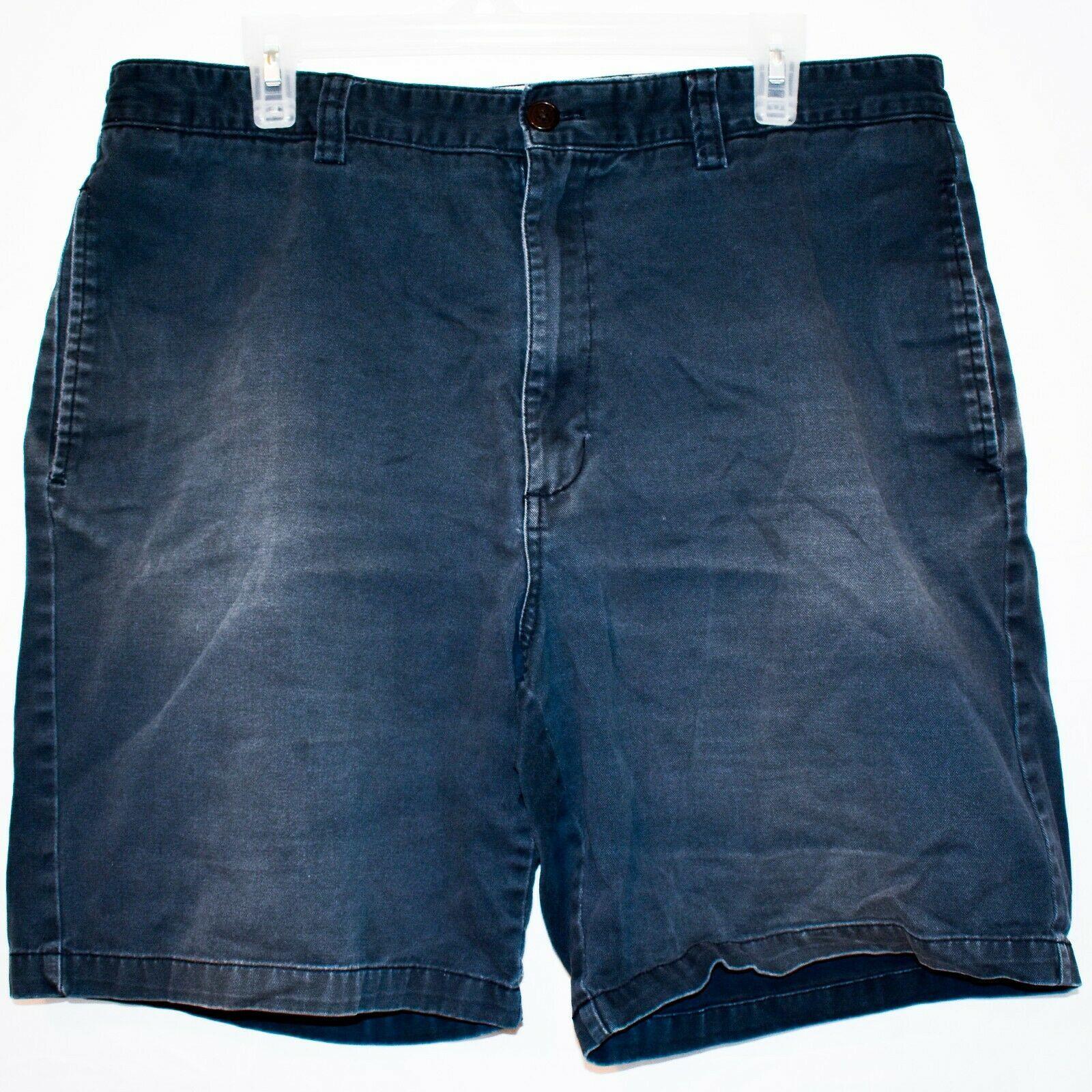 Chaps by Ralph Lauren Flat Front Faded Navy Blue Men's Cotton Shorts Size 36