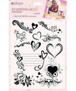 Autumn Leaves Full Sheet Clear Stamp, Love is in The Air - $8.91