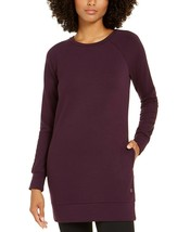 Ideology Long Sleeve French Terry Tunic, Purple, M $55 - $22.05