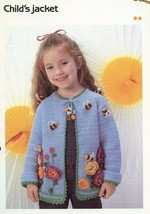 Child's Jacket Sweater for Girls Cavendish Crochet Pattern/Instructions NEW - $1.77