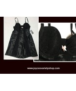 Morgan Taylor Intimates Sz XS Black Lace Padded Bridal Slip Adj. Straps - $11.99
