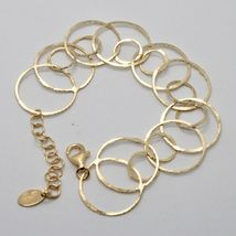 Silver Bracelet 925 Foil Gold Circles Worked by Maria Ielpo Made in Italy - image 3