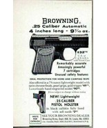 "1964 Print Ad Browning .25 Automatic Pistols 4"" Long St Louis,MO - $8.29"