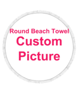 Personalized Beach Towel Round Microfiber Large Blanket For Summer Hot S... - $25.38