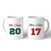 Mr. And Mrs. Claus Matching Couple White Mugs - €27,25 EUR