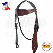 Western Horse Headstall Tack Bridle American Leather Dark Brown Hilason U-B-HS - $54.40