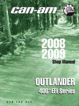 New Can-Am Outlander 400 EFI REPAIR Service Shop Manual 2008 2009 Free S... - $39.00